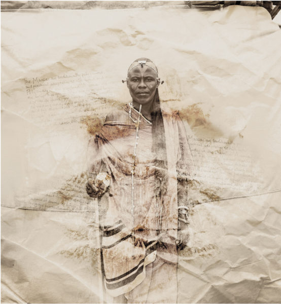 Jacob Masai Tribe portrait limited edition print by Klaus Tiedge