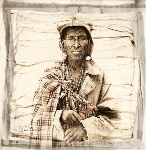 Oletukai Masai Tribe portrait limited edition print by Klaus Tiedge