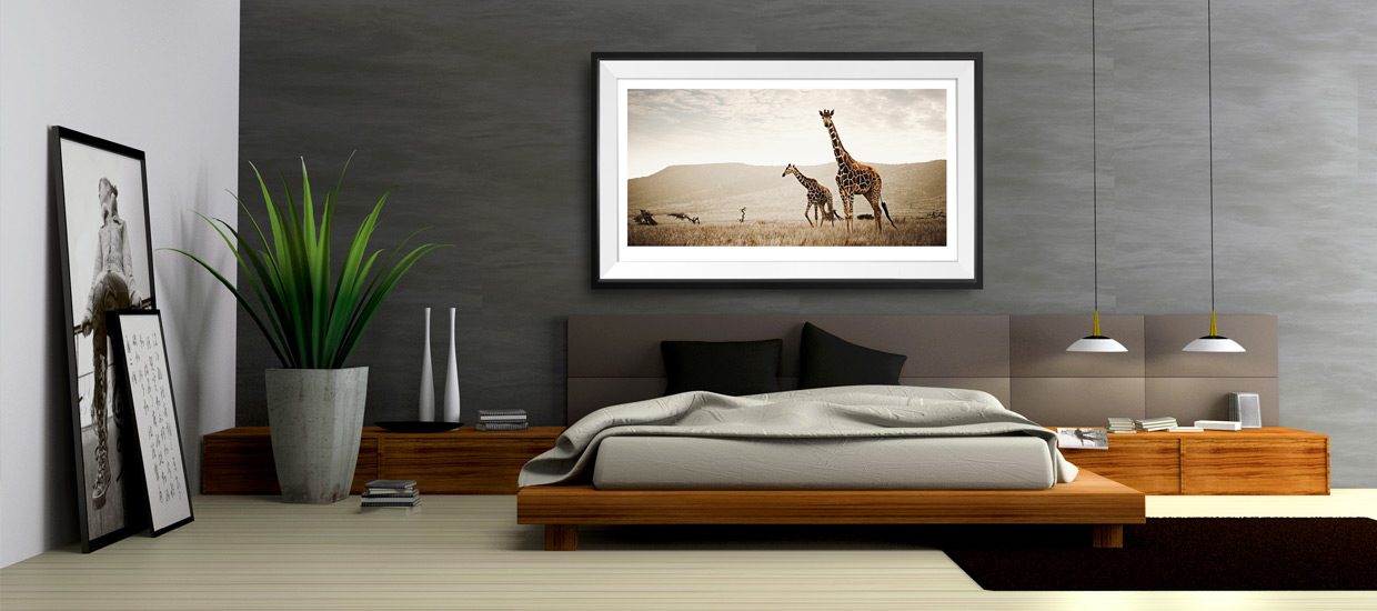 Fine-Art-Photography Giraffe print Klaus Tiedge