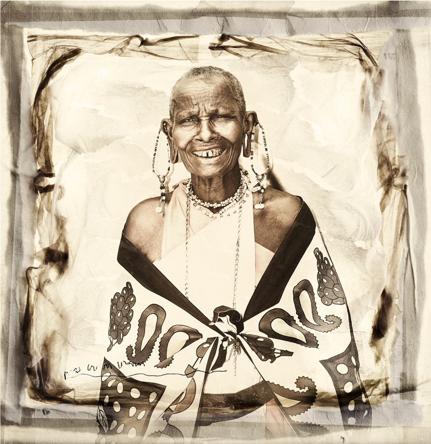 MVMM Masai Tribe Portrait limited edition print by Klaus Tiedge