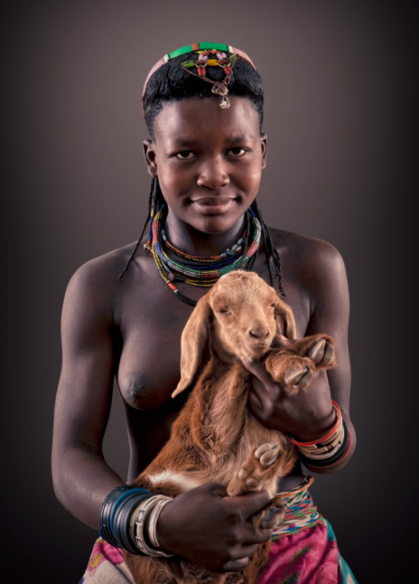 Kaongedha Zemba Tribe portrait woman open edition print by Klaus Tiedge
