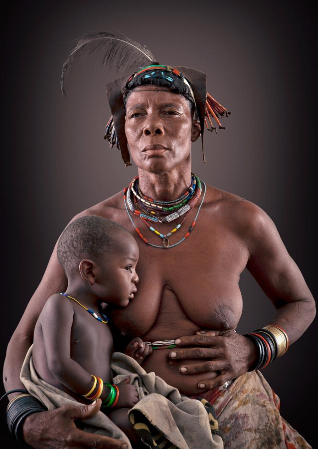 Katjiwe Zemba Tribe portrait woman open edition print by Klaus Tiedge
