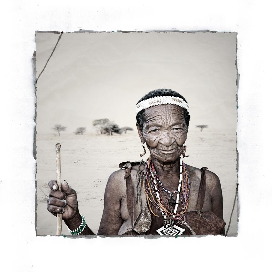 Hetei San Tribe portrait limited edition fine art print by Klaus Tiedge