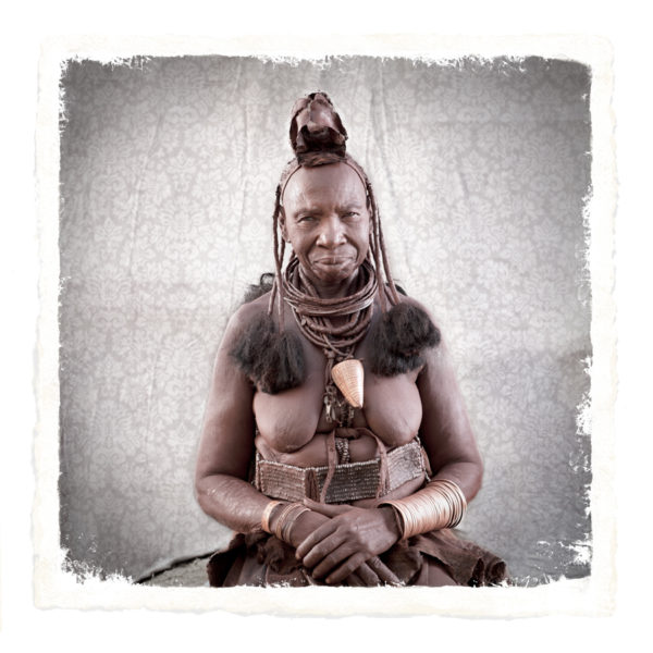 Riapuika Himba Tribe portrait woman limited edition print by Klaus Tiedge