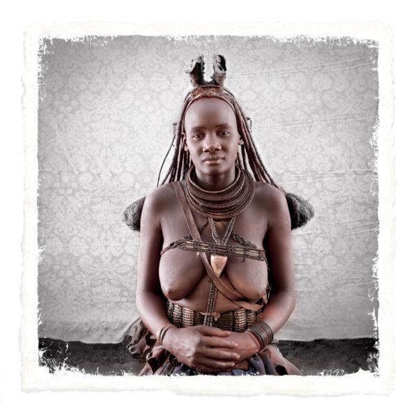 Muharukua Himba Tribe portrait woman limited edition print by Klaus Tiedge