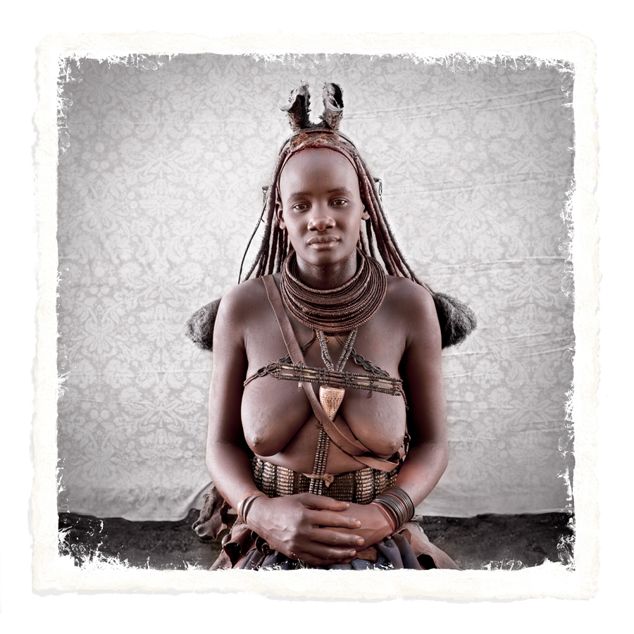 Muharukua Himba Tribe portrait woman limited edition print by Klaus Tiedge
